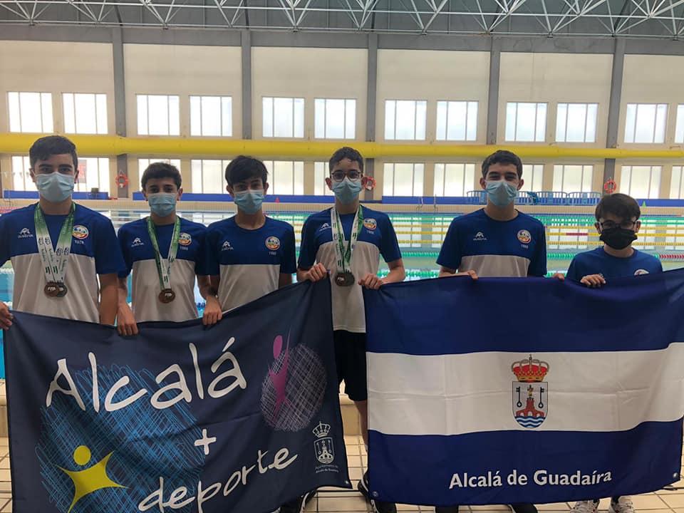 Alevines del Club de Natación. / Club de Natación Alcalá