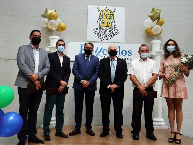 Joaquín Castillo, Julio Pinto, Manuel García y María Reyes: Reyes Magos y Estrella de la Ilusión en la Cabalgata de Reyes Magos Silos 2022 / Ayto.